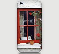 o caso janela padrão paisagem tampa traseira para Phone5 / case 5s