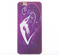 Dancer Pattern TPU Painted  Soft Back Cover for iPhone 6
