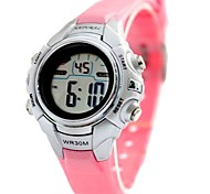 Women's Fashion Round Plastic Band Digital Watch (Assorted Colors)