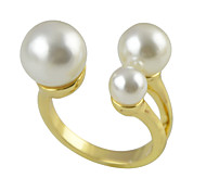 Hot Sale Cheap Punk style Cuff Three Imitation Pearl Ring