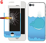 Front and Rear Toughened Cartoon Film for iPhone 6(Assorted Colors)