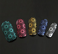 Stacked Daisy Nail Art Stickers