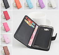 protettivo cuoio dell'unità di elaborazione caso magnetico verticale di vibrazione per Alcatel One Touch idolo mini 6012 (colori