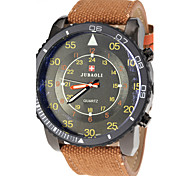 Men's Military Style Fabric Band Quartz Wrist Watch