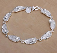 Siver Plated Slippers Pattern Copper Chain Bracelet