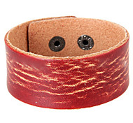 Z&X® Simple Water Wave Leather Bracelets Party/Daily/Casual 1pc