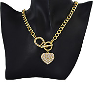 Gold Chain Heart Pendant Necklace
