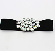 Women Diamond Inlaid Belt Party/Casual Leather Others Wide Belt