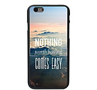 nada vem fácil caso duro pc projeto para Iphone 6