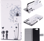 Dandelion Patterns PU Leather Stand Case with Card Slot for Wiko HIGHWAY