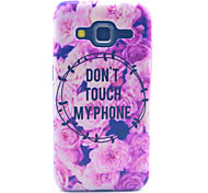 Don't Touch MY Phone Pattern PC Hard Case forSamsung Galaxy Core Prime G360 G360H G3606 G3608 Back Cover