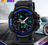 SKMEI® Men's Military Design Sport Watch Analog-Digital Dual Time Zones/Calendar/Chronograph/Alarm