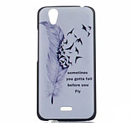 Feather  Pattern PC Phone Case For Wiko BIRDY