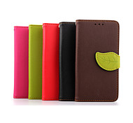 Luxury Leather Skin Card Holder Stand Magnetic For HTC One M7 Phone Flip Cases Shell Leaf Pouch Wallet + Lanyard