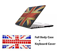 High Quality Union Jack Pattern Full Body Hard Case with TPU Keyboard Flim for Macbook Air 11.6 inch