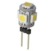 1W G4 Luces LED de Doble Pin 5 SMD 5050 50-100 lm Blanco Cálido / Blanco Fresco AC 12 V 1 pieza