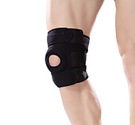 Ollas Unisex Outdoor Fitness Black Nylon Adjustable Opening Strengthen Knee Protector with Silica Gel Free Size S9402