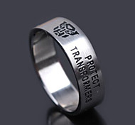 Z&X® Men's Party/Casual Fashion Matching Titanium Steel Rings