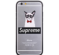 Fashion Bowout Glasses Cat Pattern Frame Back Cover for iPhone 6