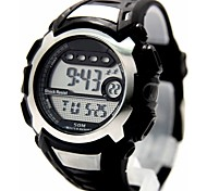 Men's Fashion Round Plastic Band Digital Watch (Assorted Colors)