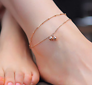 Fashion Bilayer Bell Anklet