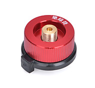 LVJIE II Outdoor Auto-Off Gas Cartridge Adapter for Camping Burner - Red