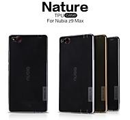 nillkin serie de la naturaleza del caso del tpu transparente ultra delgado para nubia z9 max (colores surtidos)