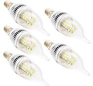 5PCS E14 3W(=Incan 20W) 24X5730SMD 200LM CRI>80 WarmWhite/White Light LED  AC110V /220V