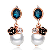Are New Hot High-Grade Pearl Crystal Camellia Diamond Pearl Earrings