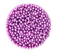 beadia 58g (ca. 2000pcs) 4mm lang abs Perlen leuchten lila Farbe Kunststoff-Perlen