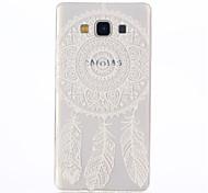 branco neve padrão coletor ideal TPU soft case para Samsung Galaxy a7