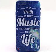 Music Life Pattern Plastic Hard Cover for iPhone 6