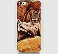 Cat with Eyeglasses Reading Pattern Back Case Cover for iPhone 6