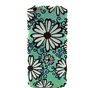 COCO FUN® Green Daisy Pattern Soft TPU IMD Back Case Cover for iPhone 6
