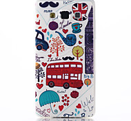 Red Car Pattern TPU Material Soft Phone Case for Galaxy A3 A5 A7