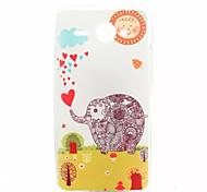 padrão elefante caso de telefone TPU para Huawei Y530