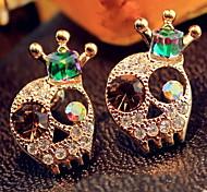 Dazzle Colour Skulls Crown Multicoloured Diamond Earrings