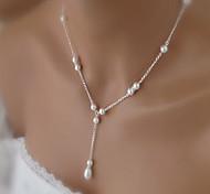 Жен. Ожерелья с подвесками Жемчужные ожерелья Свисающие Жемчуг Искусственный жемчуг Сплав Базовый дизайн Elegant Свадьба бижутерия