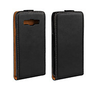For Samsung Galaxy Case Flip / Magnetic Case Back Cover Case Solid Color PU Leather Samsung A3