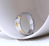 Z&X® Men's Party/Casual Fashion Pentagram Titanium Steel Rings