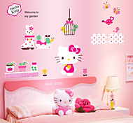 Lovely Cat Kitty Girl Like PVC Wall Sticker Wall Decals