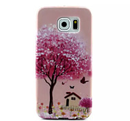 Cover Back Case  Pink House TPU Soft Case Special Design for Samsung Galaxy S6