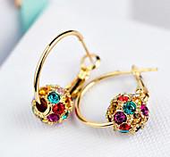 Rolling the ball ball ShanZuan crystal earrings