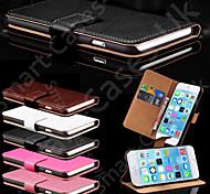 подлинные владельцы карты случай кожаный бумажник для iPhone 5 / 5s (ассорти цветов)