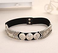 Women Fashion Elastic Belt Party/Casual Alloy Others Wide Belt