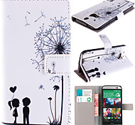 For HTC Case Card Holder / Wallet / with Stand / Flip Case Full Body Case Cartoon Hard PU Leather HTC