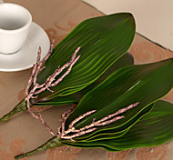 "9.8""L Set of 1 Natural Phalaenopsis Leaves PU Flowers"