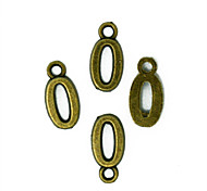 Beadia 100PCS Antique Bronze Alloy Charms 8x16mm Number 0 Pendants DIY Accessories
