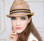 Unisex Casual Summer Straw Fedora Hat