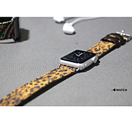 Natural Cotton Fabric Watchbands Leopard pattern For iWatch 38mm Leather Watchband Ladies Men Fashion